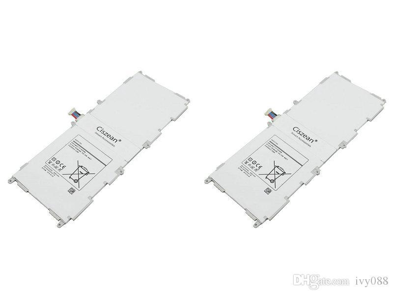 2PCS / LOT 6800mAh EB-BT530FBC 3.8VDC استبدال بطارية ليثيوم بوليمر لسامسونج جالاكسي تاب 10.1 4 T530 T531 T535 بطاريات P5220 SM-T530NU