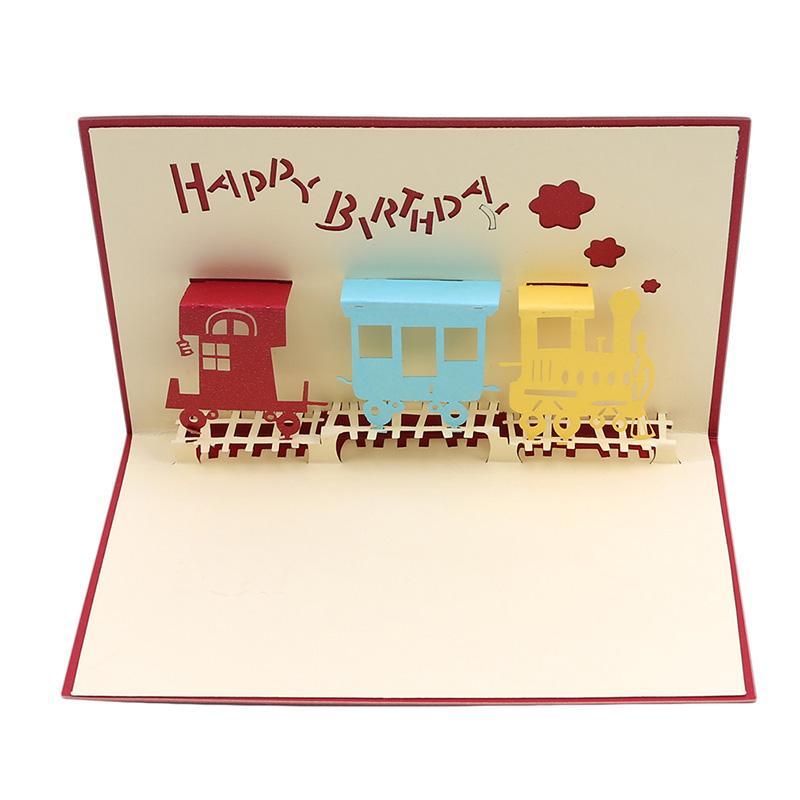 Anniversary Gift Card Unicorn Postcard 3D Birthday Card Wedding Invitations Party Invitation Train Shower Gift Wedding