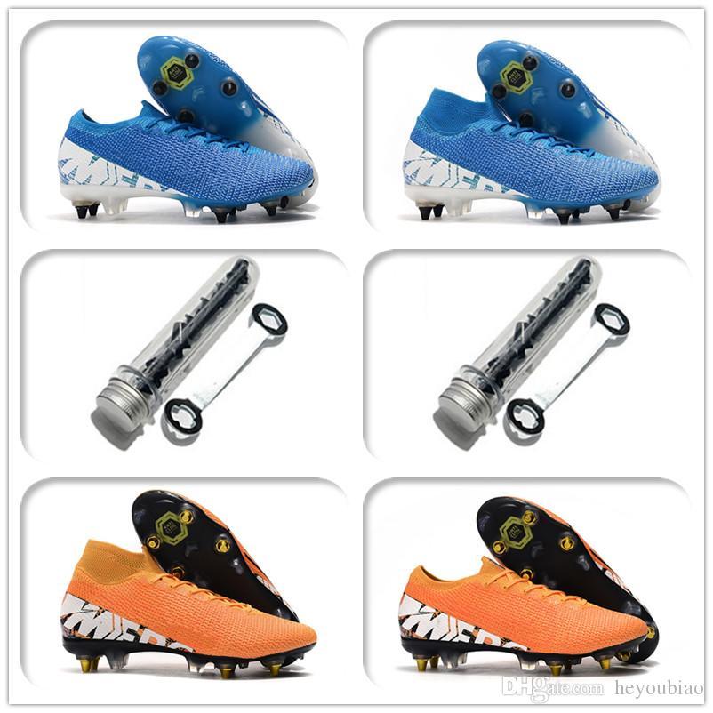 زئبقي ال superfly 7 النخبة SG-PRO AC رجال شباب جديد كرة القدم المرابط أحذية مكافحة السدادة أحذية كرة القدم في الهواء الطلق