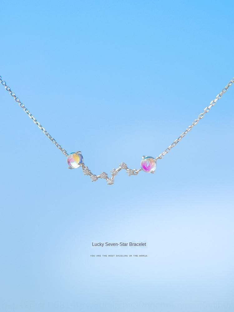Juntian argento sterling 925 fortunati trasferimento Moonlight Pietra femminili all-studente in argento Coreano stile semplice braccialetto ragazza
