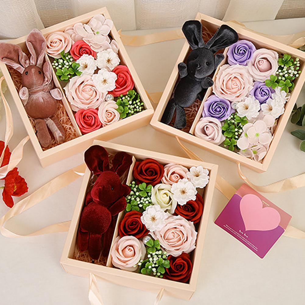 Valentine/'s Day Gifts Soap Rose Artificial Decor Bath Soap Bouquet Fake Flower