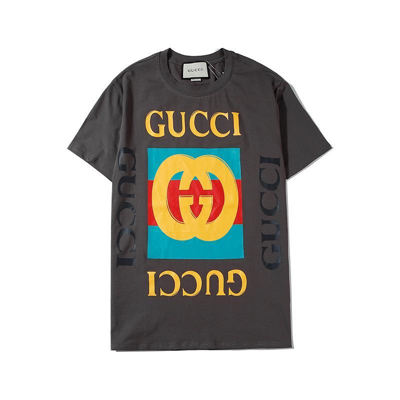 2020 nueva llegada para mujer para hombre de manga corta de la camiseta europeos grandes letras Imprimir O-cuello camiseta de manga corta de los hombres de las mujeres de calidad superior B103671V
