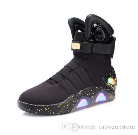 أحذية كرة السلة للرجال الصمام الخفيفة أحذية الرجال أحذية رياضية عالية الجودة أدى متوهجة للرجال COsplay أحذية عالية أعلى
