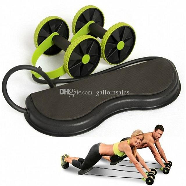 AB Roller Rueda de Doble AB Roller Rueda de Fitness Ejercicios Abdominales Equipo para M/úsculos Ejercicios Abdominales