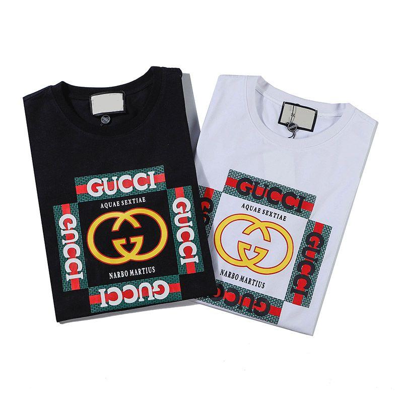 Commercio all'ingrosso di alfabeto Stampa etichetta di moda Maglietta respirabile di estate T-shirt casuale semplice uomo Via manica corta M-3XL