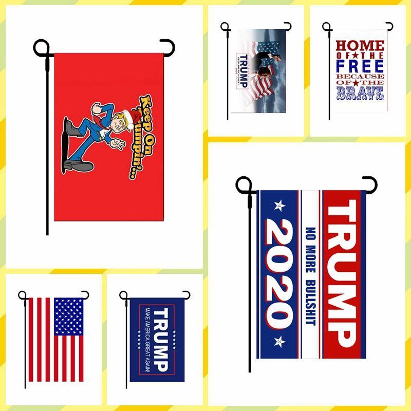 30*45cm Trump garden flag outdoor festival USA for 2020 keep America great again selection banner flags FFA4015-1