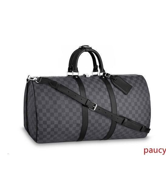N41413 Keepall Bandoulire 55 Erkek Moda Sırt İş Çantaları Bez Messenger Çanta Softsided Bagaj Rolling Çanta
