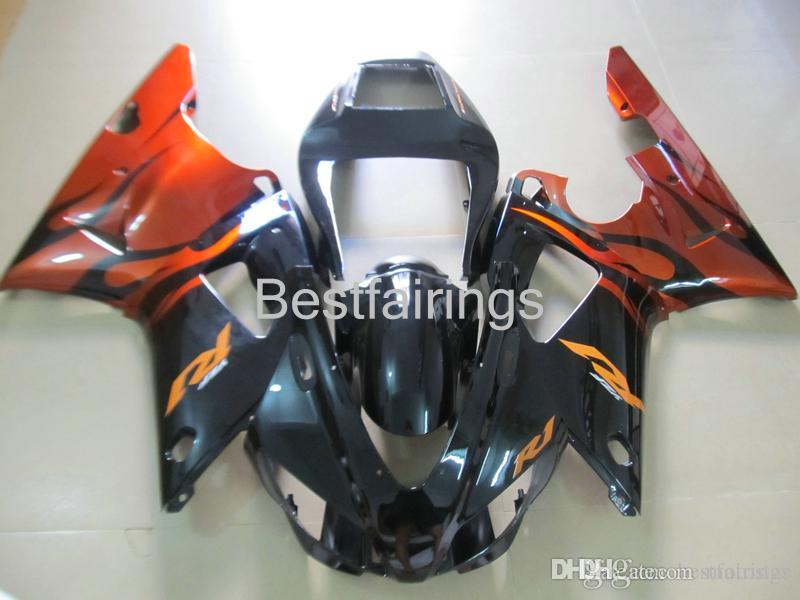 ZXMOTOR Hot sale fairing kit for YAMAHA R1 1998 1999 black red fairings YZF R1 98 99 5M18