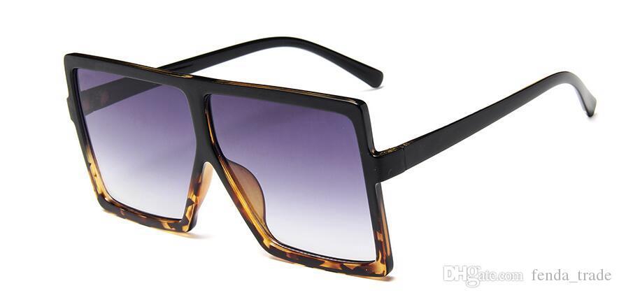 10 PCS Big Quadro Gradiente Shades Oversized Óculos De Sol Quadrado Designer De Marca Do Vintage Das Mulheres Moda Óculos De Sol Oculos De Sol UV400