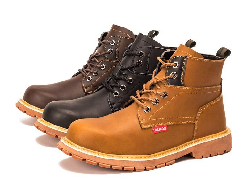 MENS BLACK HIKING ANKLE RUGGED STEEL TOE CAP SAFETY WORK BOOTS SHOES TRAINERS UK