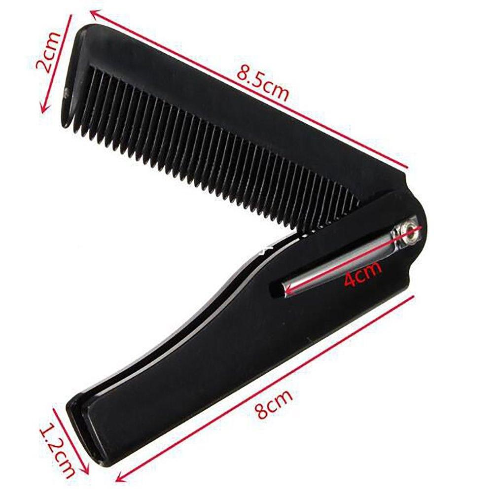 Folding Knife Type Horn Comb Business Plastic Small Comb For Men Bathroom Sinks