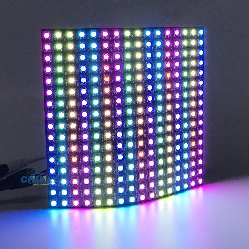 SK6812 16x16 WS2812B-Panel 256 Pixel LED Programmierte Panel-Bildschirm Vollfarbe RGB-SMD 5050 LED-Streifen Digitale Flexible Adressierbarer DC5V
