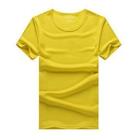 2019 round neck dry jersey yellow T-shirt tailored sweater custom shirt running fitness clothes fashion T-shirt