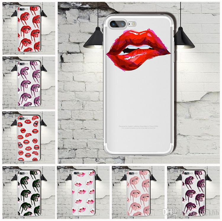 Iphone 6 plus cover - lips tranparant -