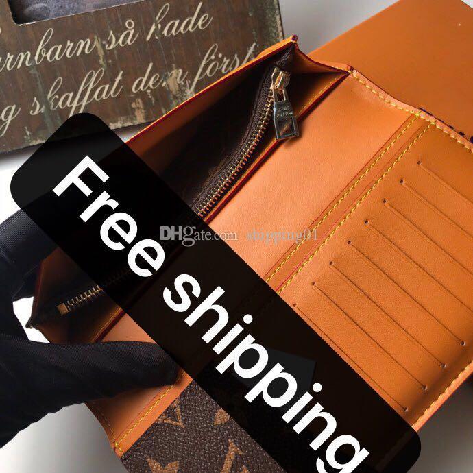 19-10cm 높은 품질의 디자이너 여성 지갑 여성 비즈니스 가죽 브랜드 여성 지갑 노란색 짧은 카드 홀더 박스