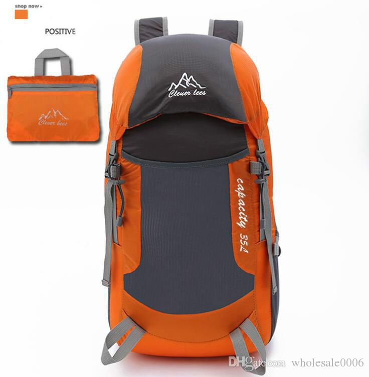 Mountain climbing folding bag ultra light foldable travel bag light portable shoulder outdoor climbing drawstring backpack waist bag