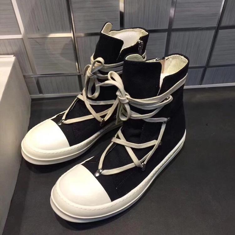 Темно-2020 рыцарь брезент высокая верхний обувь РАО ветра молоко с плоским дном высокой верхней мужской обуви орошал лицо женский японский ветер