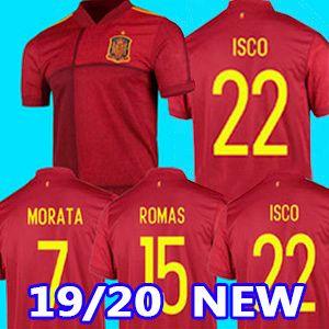 eruo 2020 اسبانيا بالقميص المنزل لكرة القدم كأس اسبانيا 2020 Camiseta دي فوتبول أسنسيو موراتا قميص كرة القدم ISCO RAMOS INIESTA مايوه القدم