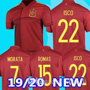 2020 Espanha camisas de futebol de casa eruo copo 2020 camisa de futebol spain Camiseta de futbol ASENSIO MORATA ISCO RAMOS INIESTA maillot pé