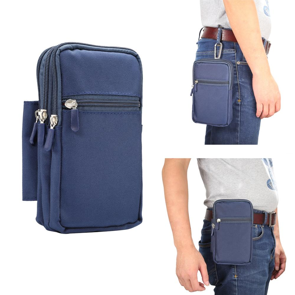 Мужская сумка Fanny Waist для сотовых и мобильных телефонов Кошелек для монет Карманный ремень Bum Pouch Pack Хип-сумка для Sony Xperia A1 A2 L1 L2 XA1 XA2 XZ1 Mini
