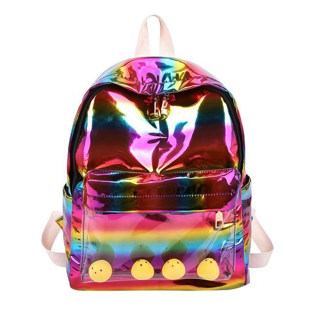 Sac à dos sac de voyage nylon couleur femme sac à dos sac d'école