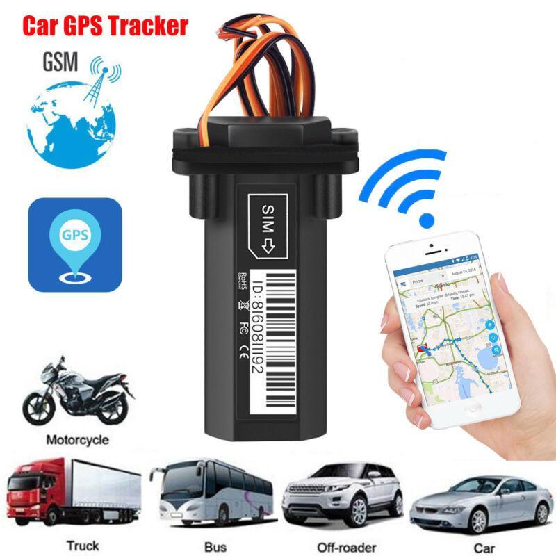 Pil GT02 Gerçek Zamanlı GSM GPRS Locator Takip Cihazı Dahili Araba Motosiklet Su geçirmez GPS Tracker Yap-GPS Taşıtlar bulucu