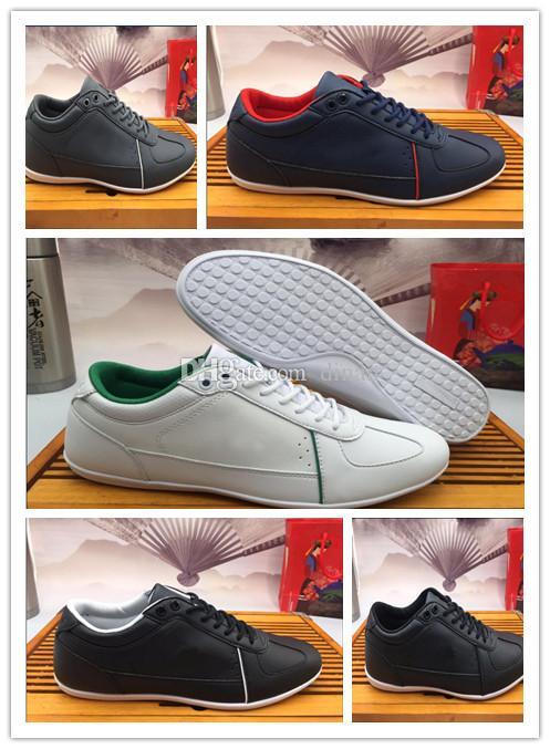 Krokodil Marke Mens Frauen Leder Freizeitschuhe Mode Turnschuhe Luxuxentwerfer Turnschuhe Lacos Großhandel Schuhe Causal lLACOSTEs original