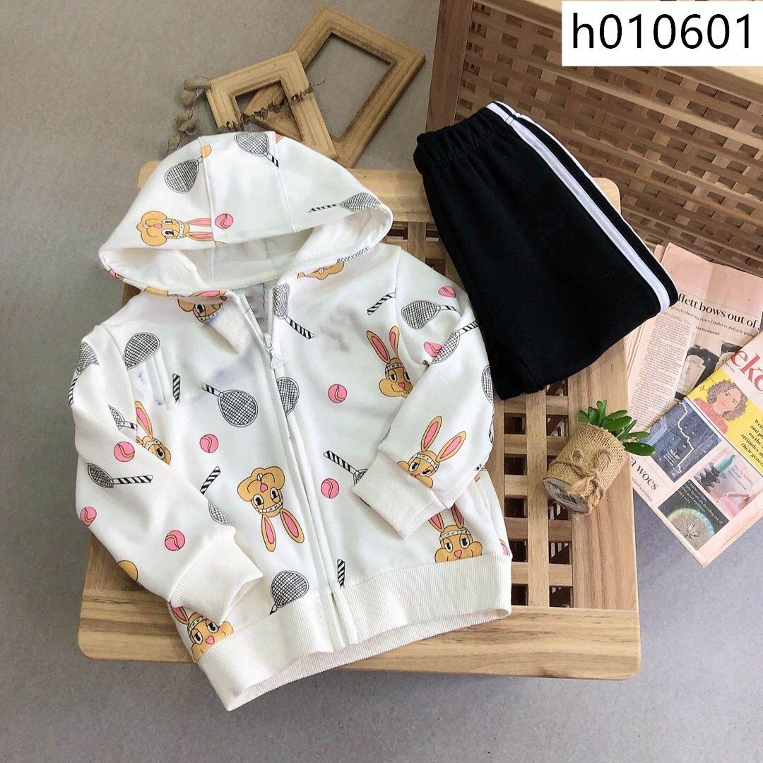 2pcs Newborn Baby Girls Boys Rabbit Outfits Long Sleeve Velvet Hooded Coat+Pants