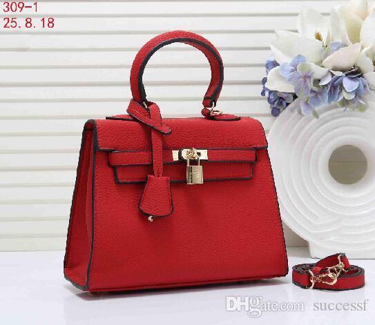 Top selling Brand Fashion Women Large capacity handbag Designer Tote bag Female lock Clutch Purse bags Top Quality female red H Handbags