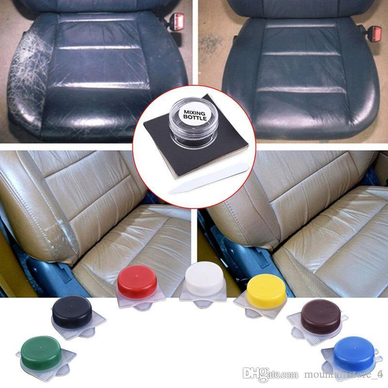 Piel líquida Asiento de automóvil automático Asientos de sofá Agujeros Rasguños Grietas Rasgaduras Sin calor Kit de reparación de vinilo de cuero líquido Herramienta de reparación (al por menor)