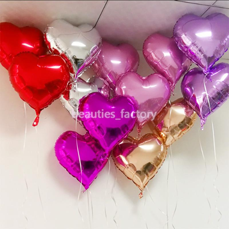 50pcs 18 Inch Foil Balloons Heart Shape Wedding Party Decorations Birthday Baby Room Christmas Home Decor