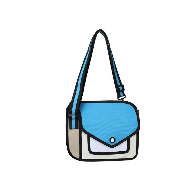 Creative New Fashionable Women 2d Shoulder School Bag 3d Drawing Cartoon Paper Comic Crossbody Handbag Mens Bags Messenger Bags For Women From Zidane5 30 08 Dhgate Com
