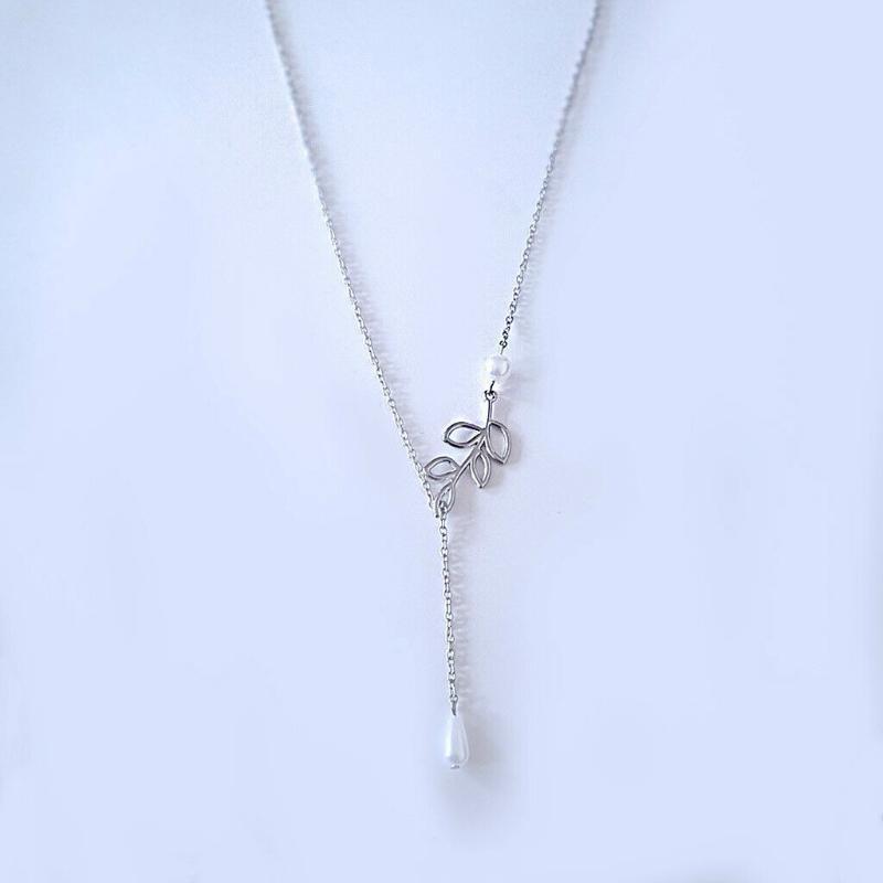 고대 실버 올리브 잎 진주 매력 펜던트 목걸이 패션 크리에이티브 목걸이 남성 여성 쥬얼리 최고의 크리스마스 선물