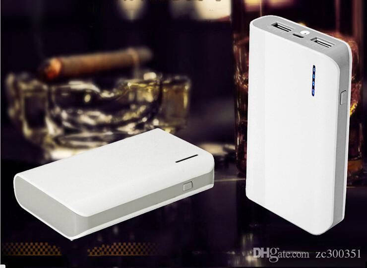 Ультратонкие 8400mAh внешнее зарядное устройство Power Bank портативный Тонкий ультра тонкий Banks пакет для Dual USB Универсальный сотовый телефон iPhone 5 6