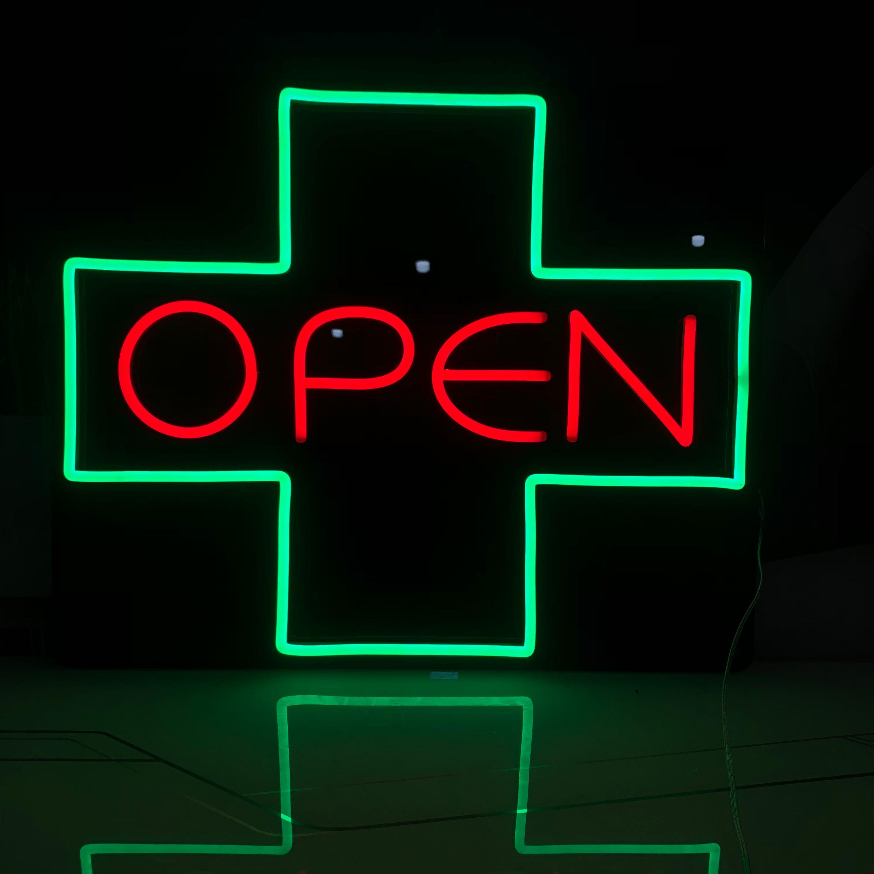 Open decoration shop bar sign nightclub multi color 12v custom neon sign