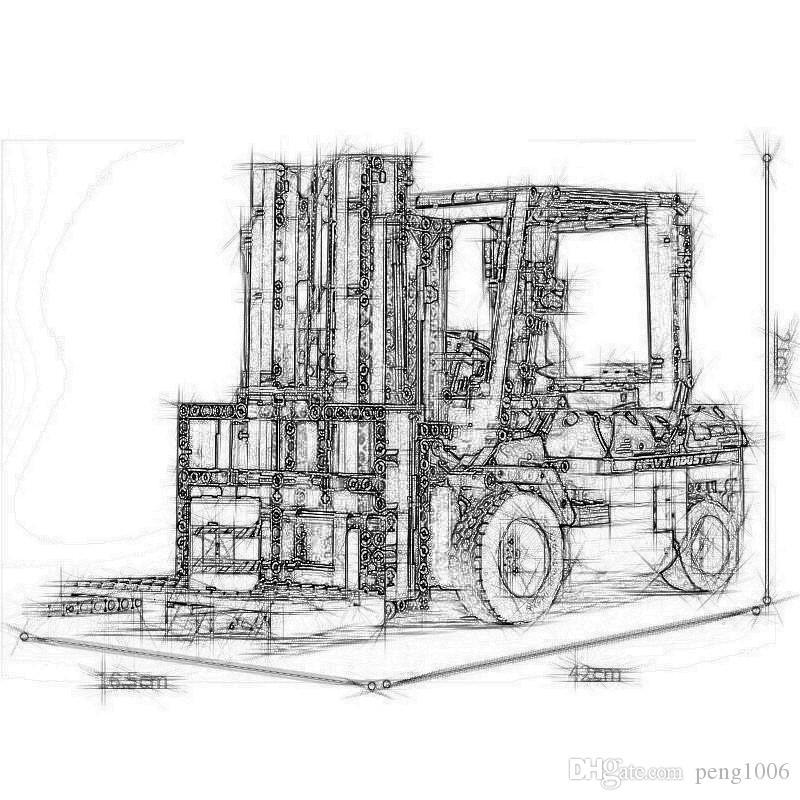 Плесень King Technic APP RC Модель погрузчика 13106 1719PCS Строительные блоки Кирпичи для детей Сборка автомобилей Елочные игрушки
