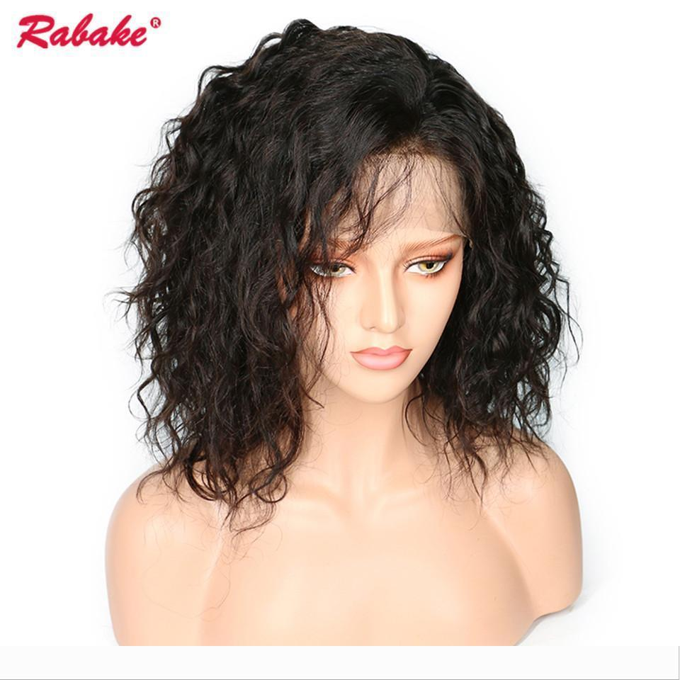 Brazilian Virgin Remy 4x4 Silk Top Bob Lace Front Wigs Rabake Natural Wave Cheap Short Lace Front Wigs Bob Baby Hair Pre Plucked