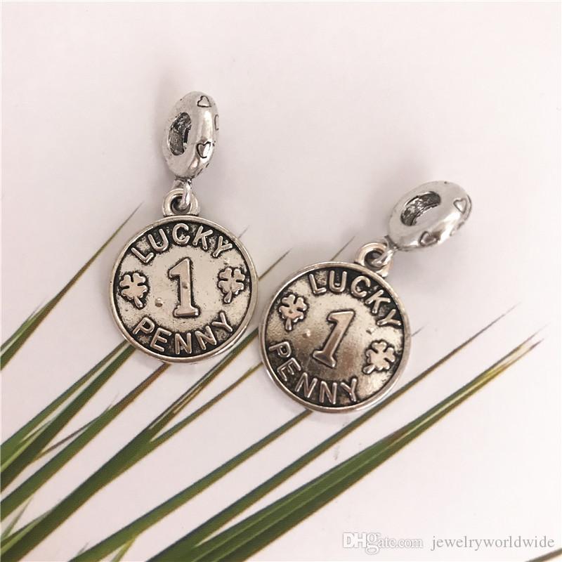 Handmade Big Coin Ciondolo Charm Pendant Pendant Moda Donna Gioielli Gioielli Europea per la collana del braccialetto fai da te