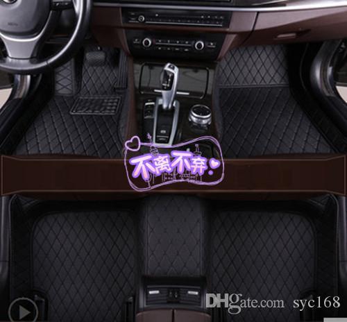Para Volvo XC90 2015 ~ 2019 tapetes de cuero para automóviles Alfombrilla impermeable