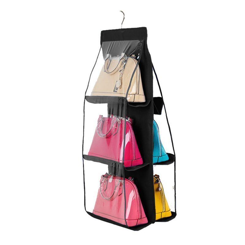 New hängend Handtaschen-Organisator staubdichte Lagerung Inhaber Tasche Kleiderschrank für Tasche Clutch mit 6 großen Taschen