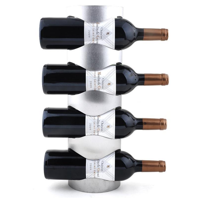 1PC 3 ou 4 trous mur en acier inoxydable monté Porte-vin rack Porte-bouteille de vin maison avec des vis pour usage à la maison préférée