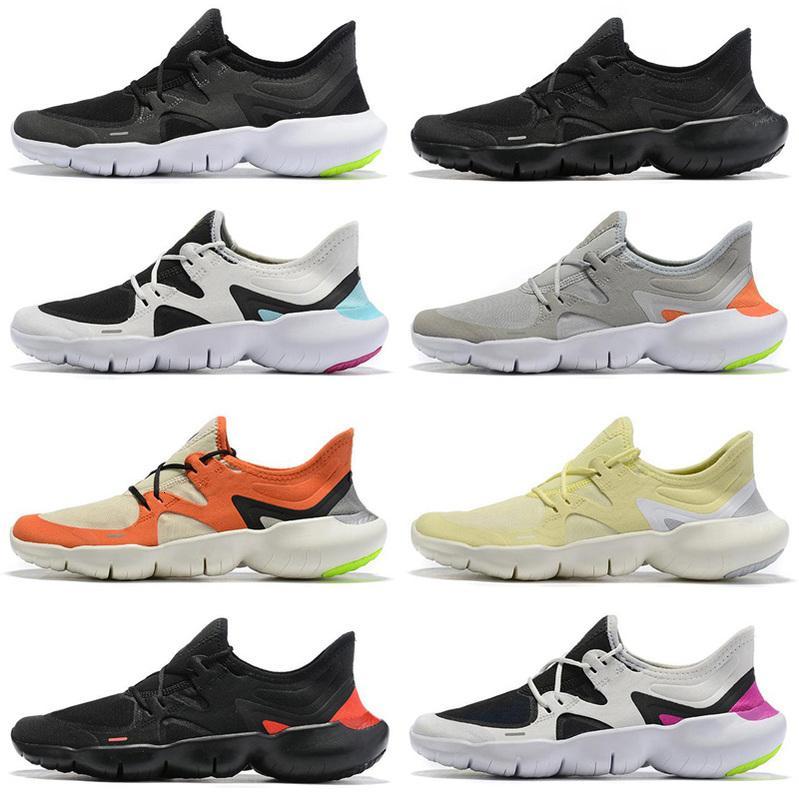 2019 Free RN 5.0 Zapatillas para correr para hombre Diseñador de moda masculina Zapatillas deportivas Verano Fresco Transpirable RUN Mujeres Zapatos de punto ligeros