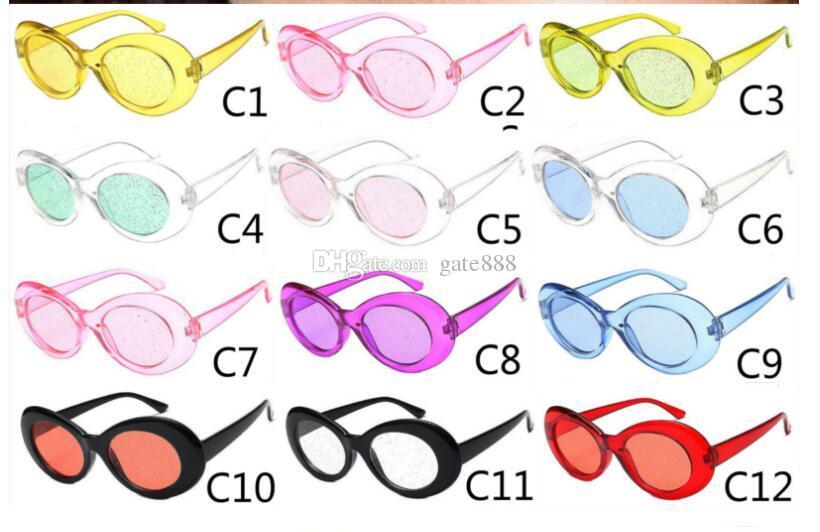 Nuovi occhiali da sole di scintillio Ellipse Occhiali da sole di moda occhiali da sole per uomo e donna Occhiali 10pcs / lot Spedizione gratuita.