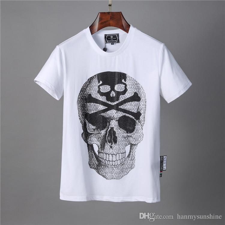 2020ss Automne hommes T-shirt des hommes de mode à manches courtes T-shirt Vêtements décontractés impression Lettre Skull Hip Hop Hauts pour hommes T 88007