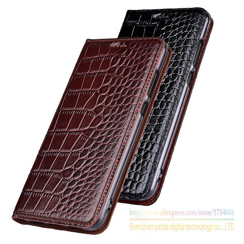 Натуральная кожа Крокодил зерна стенд флип чехол для Xiaomi A1 Mi A1 роскошный кожаный чехол для мобильного телефона Xiaomi Mi 5X M 5X