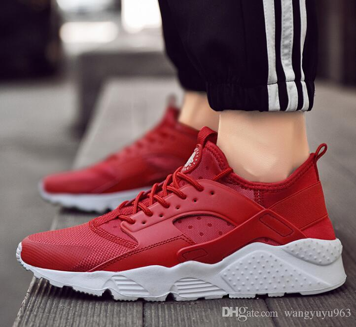 2019 pas cher Air Huarache 2 II Ultra Tous Huaraches blanches et noires Chaussures Hommes Femmes Baskets Casual Chaussures Taille 36-46