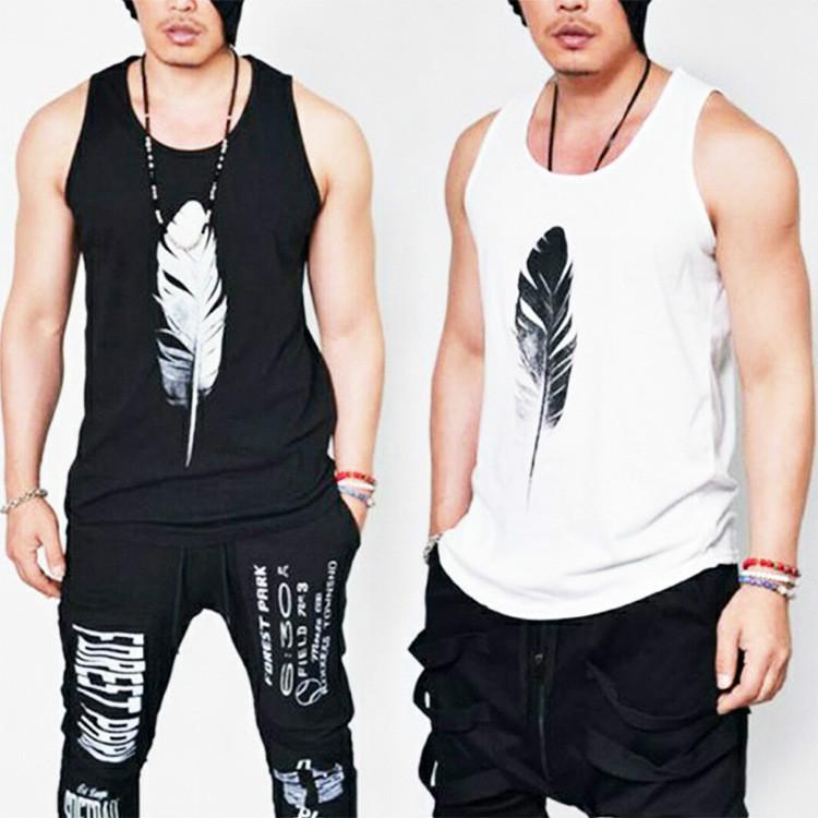 2020 nouveaux hommes Designer Vest T-shirts Marque Tops plumes d'été T Mode motif imprimé manches luxe Habillement Europe et en Amérique