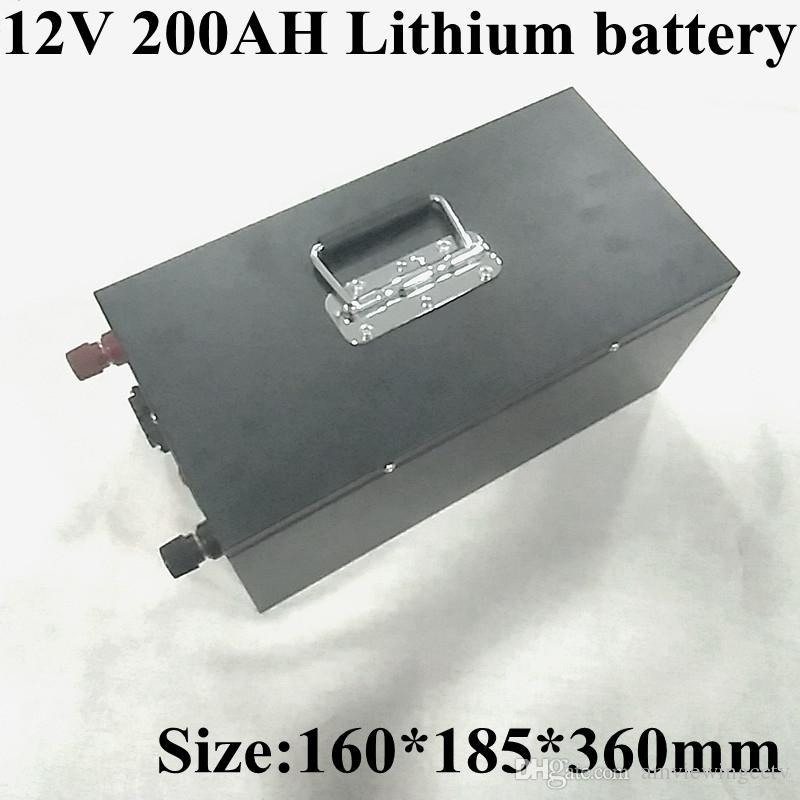 12V 200Ah Литий-ионная аккумуляторная батарея Встроенная BMS для солнечной системы / электрическая лодка / система хранения энергии / RV / солнечная панель + зарядка
