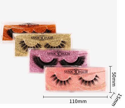 10style 3D Faux Mink Eyelashes Mink Hair Fake Eyelash Long Thick Cross Natural Extension Eye Lashes Eye Makeup GGA3041-3