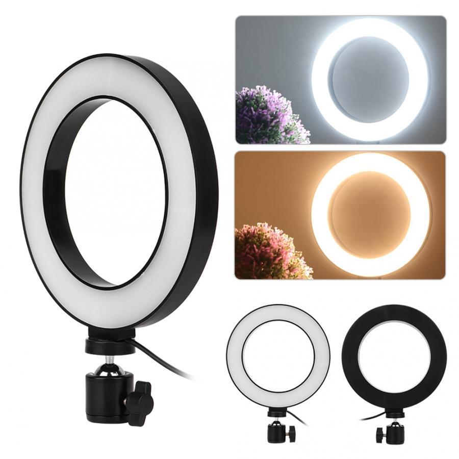 TOKILA 6 inç Mini LED Masaüstü Video Halka Işık Selfie Lambası Ile Tripod Standı USB Fişi YouTube TİK TOK Canlı Fotoğraf Fotoğraf stüdyosu